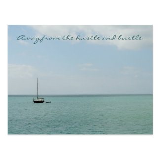 Away from the hustle and bustle Postcard