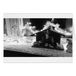 Away in a Manger Christmas Greeting Card