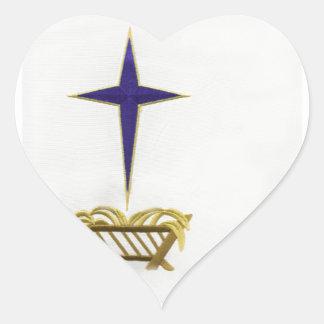 Away In a Manger Heart Sticker