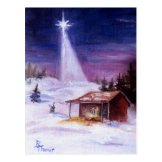 Away In a Manger Postcard