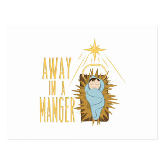 Away In Manger Postcard