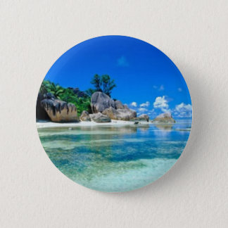 AWAY TO PARADISE 2 INCH ROUND BUTTON