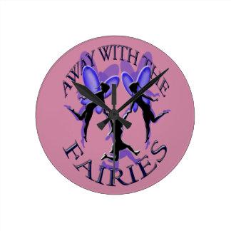 away with the fairies wall clocks