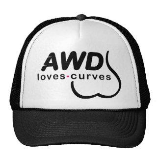 AWD Loves Curves Black Trucker Hat