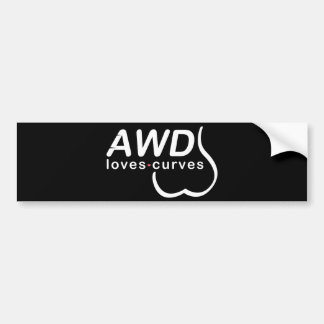 AWD Loves Curves Bumpersticker Bumper Sticker