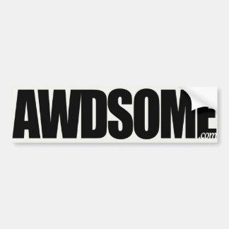 awdsome aspen white bumper sticker