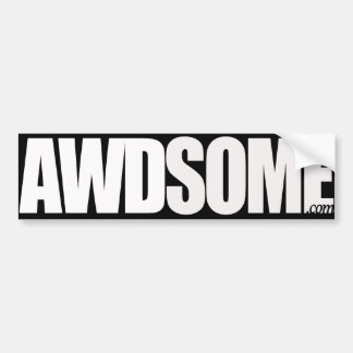 awdsome black and white smoke bumper sticker