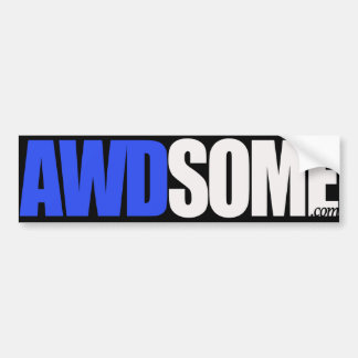 awdsome blue bumper sticker