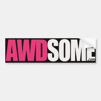 awdsome stickers pink/black logo 1 bumper sticker