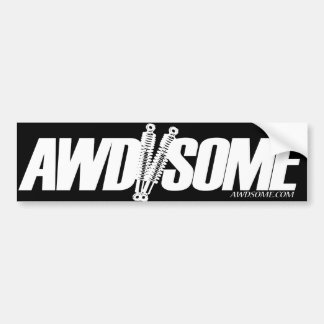 awdsome stickers white/black logo 3 bumper sticker