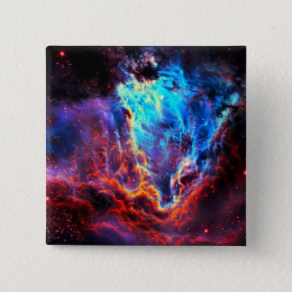 Awe-Inspiring Color Composite Star Nebula 2 Inch Square Button