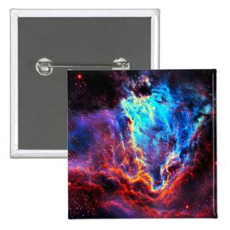 Awe-Inspiring Color Composite Star Nebula 2 Inch Square Button