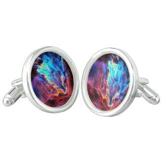 Awe-Inspiring Color Composite Star Nebula Cufflinks