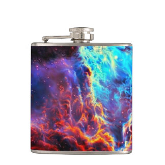 Awe-Inspiring Color Composite Star Nebula Flask
