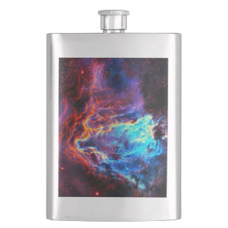 Awe-Inspiring Color Composite Star Nebula Hip Flask