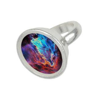 Awe-Inspiring Color Composite Star Nebula Photo Rings