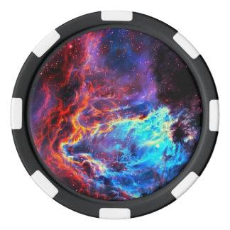 Awe-Inspiring Color Composite Star Nebula Poker Chips
