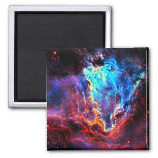 Awe-Inspiring Color Composite Star Nebula Square Magnet