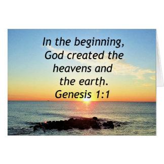 AWE-INSPIRING GENESIS 1:1 SUNRISE PHOTO DESIGN CARD