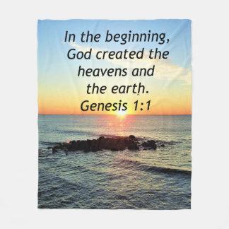 AWE-INSPIRING GENESIS 1:1 SUNRISE PHOTO DESIGN FLEECE BLANKET