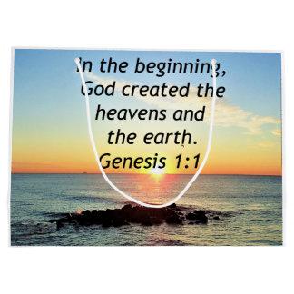 AWE-INSPIRING GENESIS 1:1 SUNRISE PHOTO DESIGN LARGE GIFT BAG