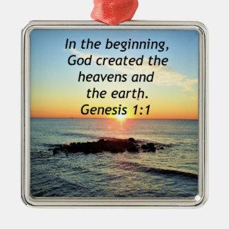 AWE-INSPIRING GENESIS 1:1 SUNRISE PHOTO DESIGN METAL ORNAMENT