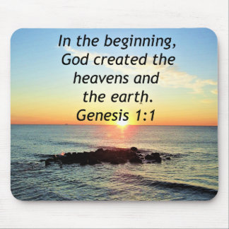 AWE-INSPIRING GENESIS 1:1 SUNRISE PHOTO DESIGN MOUSE PAD