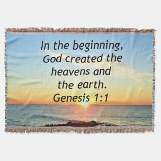 AWE-INSPIRING GENESIS 1:1 SUNRISE PHOTO DESIGN THROW BLANKET