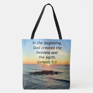 AWE-INSPIRING GENESIS 1:1 SUNRISE PHOTO DESIGN TOTE BAG