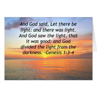 AWE-INSPIRING GENESIS 1:3 SUNRISE PHOTO DESIGN CARD
