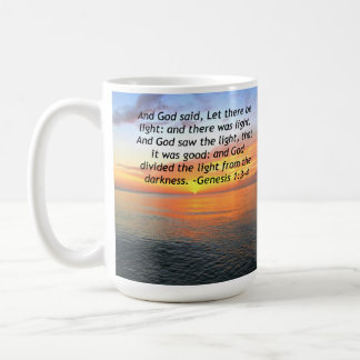 AWE-INSPIRING GENESIS 1:3 SUNRISE PHOTO DESIGN COFFEE MUG