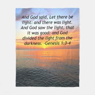 AWE-INSPIRING GENESIS 1:3 SUNRISE PHOTO DESIGN FLEECE BLANKET