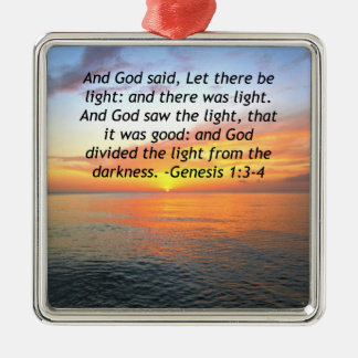 AWE-INSPIRING GENESIS 1:3 SUNRISE PHOTO DESIGN METAL ORNAMENT