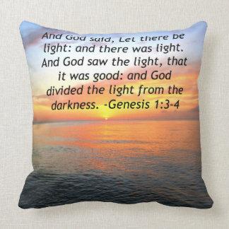 AWE-INSPIRING GENESIS 1:3 SUNRISE PHOTO DESIGN THROW PILLOW