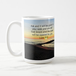 AWE-INSPIRING LUKE 11:9 SUNRISE PHOTO COFFEE MUG