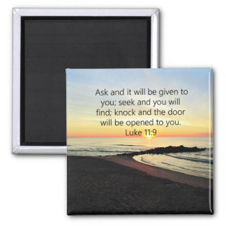 AWE-INSPIRING LUKE 11:9 SUNRISE PHOTO MAGNET