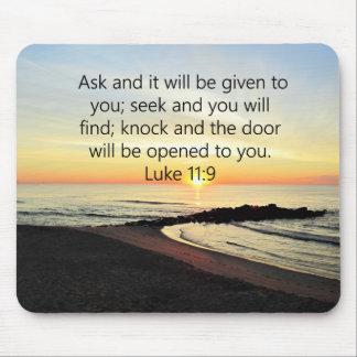 AWE-INSPIRING LUKE 11:9 SUNRISE PHOTO MOUSE PAD
