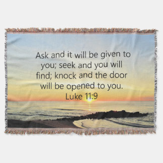 AWE-INSPIRING LUKE 11:9 SUNRISE PHOTO THROW BLANKET