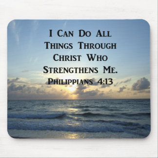 AWE-INSPIRING PHILIPPIANS 4:13 SCRIPTURE VERSE MOUSE PAD