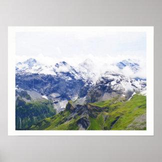 Awe-inspiring Swiss alps Poster