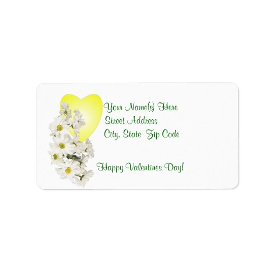 Awe Inspiring White Daisies Return Address Label