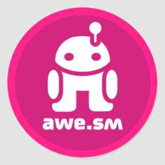 awe.sm-o Sticker (Magenta)