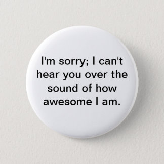 Awesome! 2 Inch Round Button