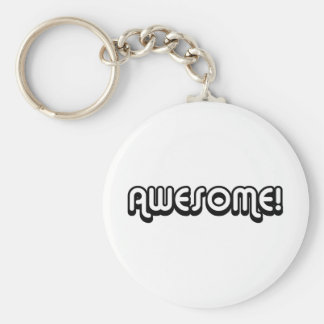 Awesome 80s basic round button keychain