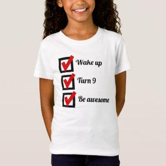 Awesome 9th Birthday Checklist T-Shirt