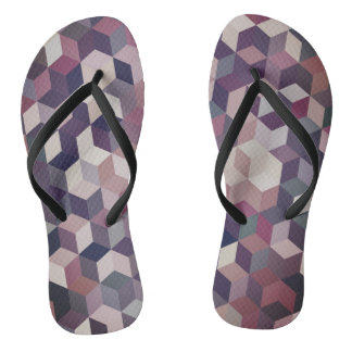 Awesome Abstract Cubes Flip Flops