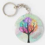 Awesome abstract pastel colours oil paint tree