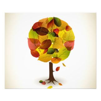 Awesome abstract tree leaf colors photo print