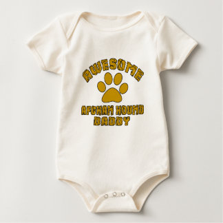 AWESOME AFGHAN HOUND DADDY BABY BODYSUIT