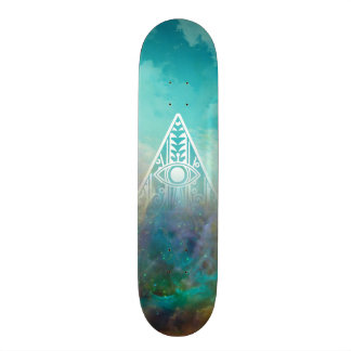 "Awesome ""All seeing eye"" triangle Orion nebula Skate Deck"